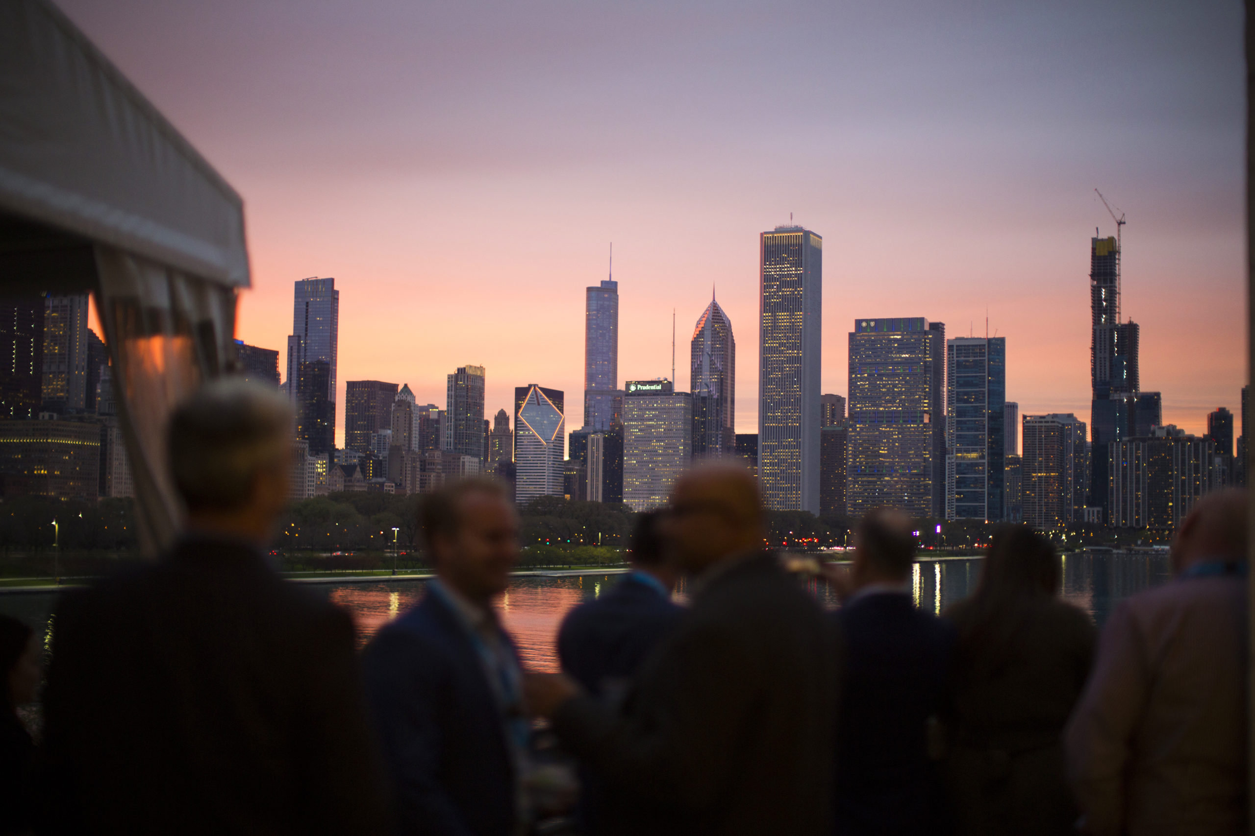 Overlooking Chicago skyline
