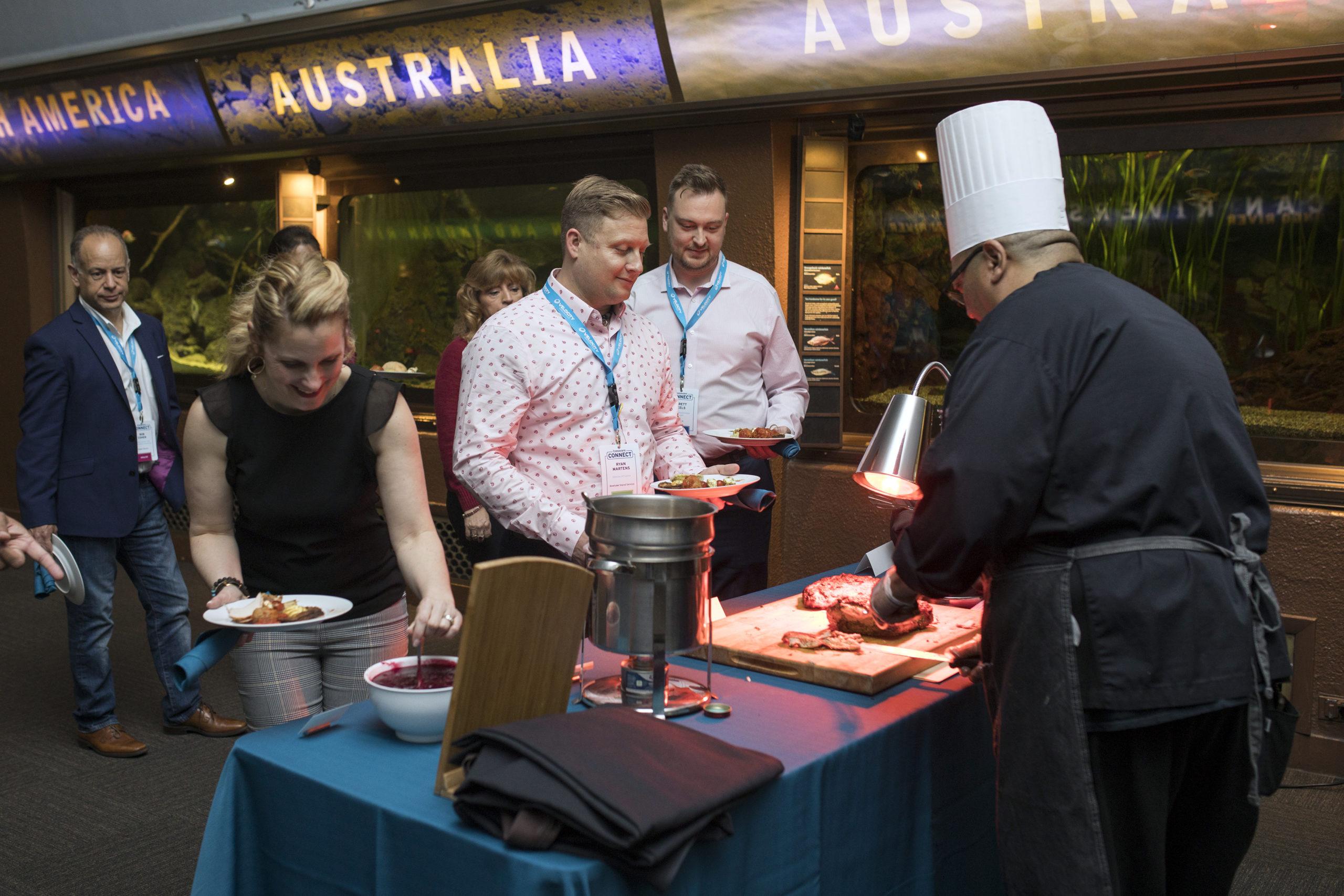 Chef food station at Shedd Aquarium