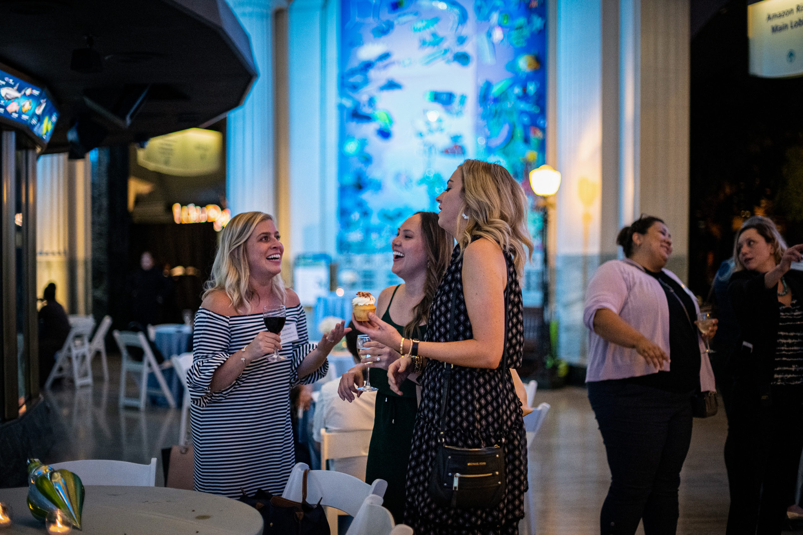 Guests enjoying an event at Shedd Aquarium